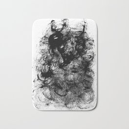 Black Swirly Bath Mat