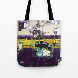Controversy Prince Deep Purple Abstract Painting Modern Art Tote Bag