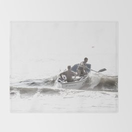 Wave riders Throw Blanket