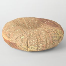 Ancient Script Floor Pillow