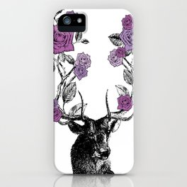 The Stag and Roses | Lilac | Purple iPhone Case