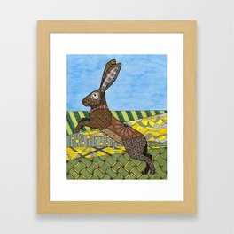 Jack Rabbit Framed Art Print