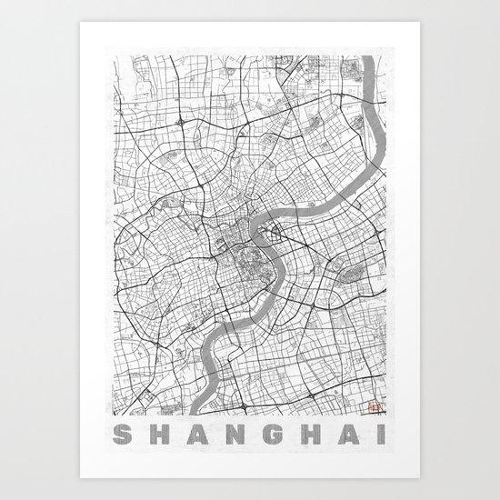 Shanghai Map Line Art Print