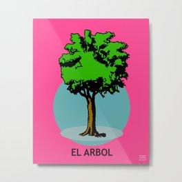 El Arbol Mexican Loteria Card Metal Print