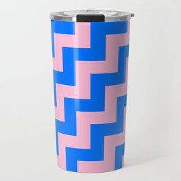 Cotton Candy Pink and Brandeis Blue Steps RTL Travel Mug