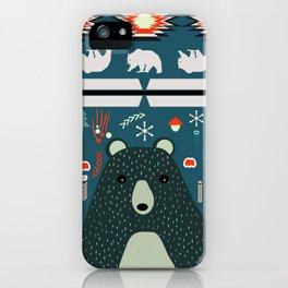 Bear Christmas decoration iPhone Case