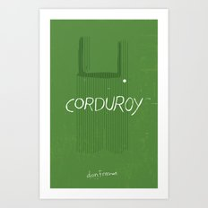CORDUROY by Don Freeman : Book Cover Re-Design Art Print