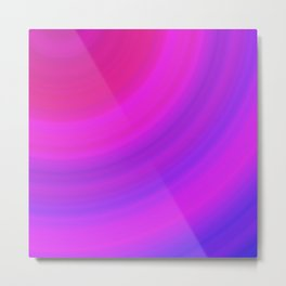 Pink & Blue Circles | Bright gradient stripes Metal Print