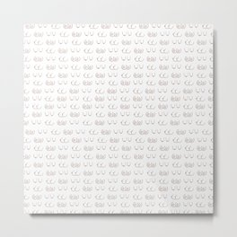 Boob Pattern Metal Print