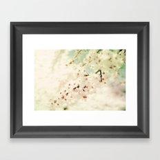 BRAVE LITTLE BLOSSOMS Framed Art Print