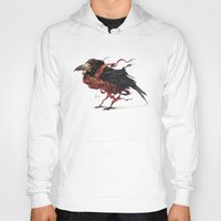 tapestry Hoodies featuring Tapestry Rook by Nick Sadek Illustration