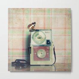 Vintage Camera Love: Pink Kodak Hawkeye Flashfun! Metal Print