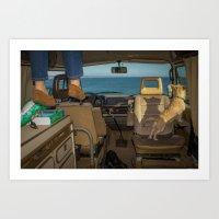 Four wheels, a home, and a view Art Print