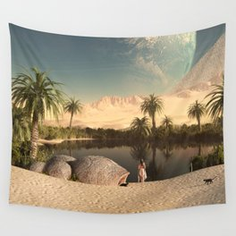 EGYPTIAN-LANDSCAPE Wall Tapestry