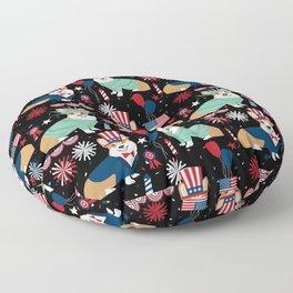 Corgi July 4th USA America Independence Day Corgis Floor Pillow