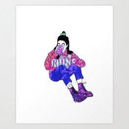 Vaporwave edit 1 Art Print