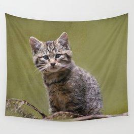 Scottish Wildcat Kitten Wall Tapestry