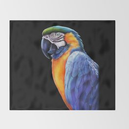 Macaw 2 Throw Blanket