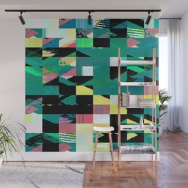 Pixel Dust Green  Wall Mural
