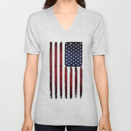 United states flag Unisex V-Neck