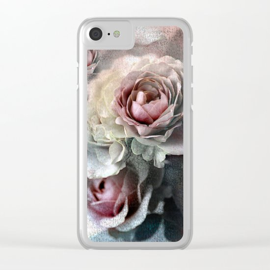 Vintage roses(7). Clear iPhone Case