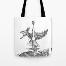 Diving bird Tote Bag