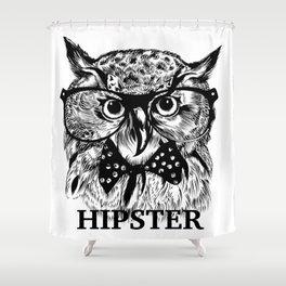 Hispter Owl Shower Curtain