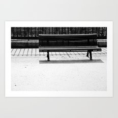Bench a la Paris. Art Print