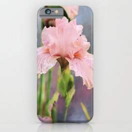 Lovely Pink Iris iPhone Case