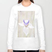 iris Long Sleeve T-shirts featuring Iris by Judith Lee Folde Photography & Art