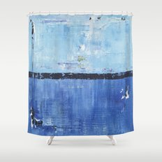 Shiver Abstract Art Blue Modern Water Painting  Shower Curtain