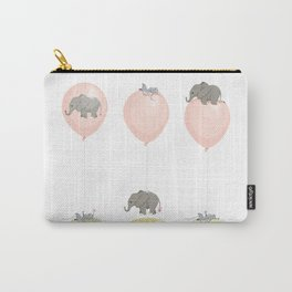 Elephant, globe and mouse Carry-All Pouch