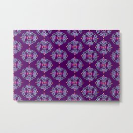 Royal Gardens (purple) Metal Print