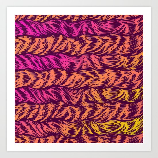 Fur Stripes Art Print