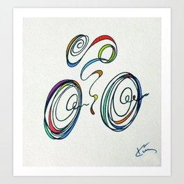 Bicycle - Zoomin' Through Art Print