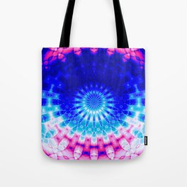 Concentric Field (blue-pink) Tote Bag