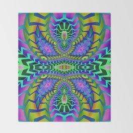 Tribal Rainbow Lotus Throw Blanket