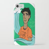 percy jackson iPhone & iPod Cases featuring Percy by simone kett