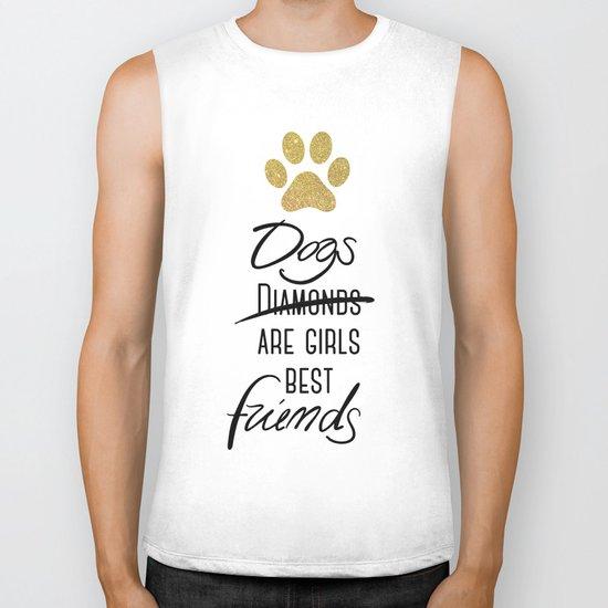 Dogs are girls best friends! Biker Tank