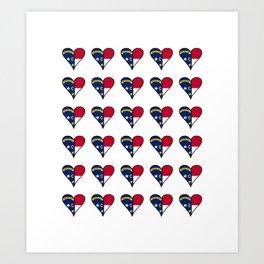 flag of north carolina heart, south,usa,Old North State,Tar Heel,North Carolinian,Charlotte,Raleigh Art Print