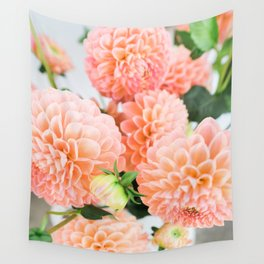Coral Dahlias 04 Wall Tapestry