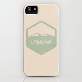 Highlands iPhone Case