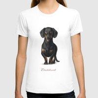 dachshund T-shirts featuring Dachshund by Gosia