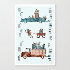 Present Transportation Canvas Print
