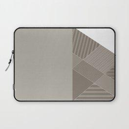 Minimal Trangles Beige Laptop Sleeve