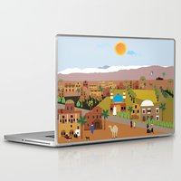 arab Laptop & iPad Skins featuring Peaceful Arab village In the desert by Design4u Studio