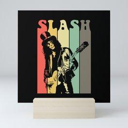 Slash Retro Mini Art Print