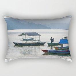 PHEWA LAKE SILHOUETTES NEPAL Rectangular Pillow