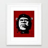 shrek Framed Art Prints featuring El Chrek by Fabian Gonzalez