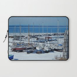 Sailboats in Winter Laptop Sleeve